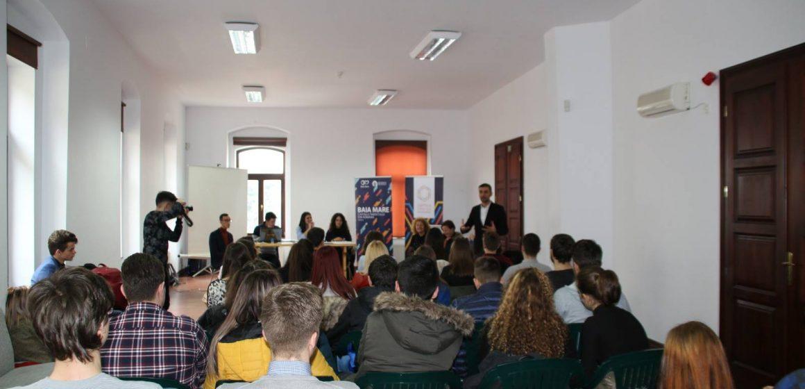 Președintele CJ Maramureș a vorbit tinerilor din CJE Maramureș despre importanța administrației publice