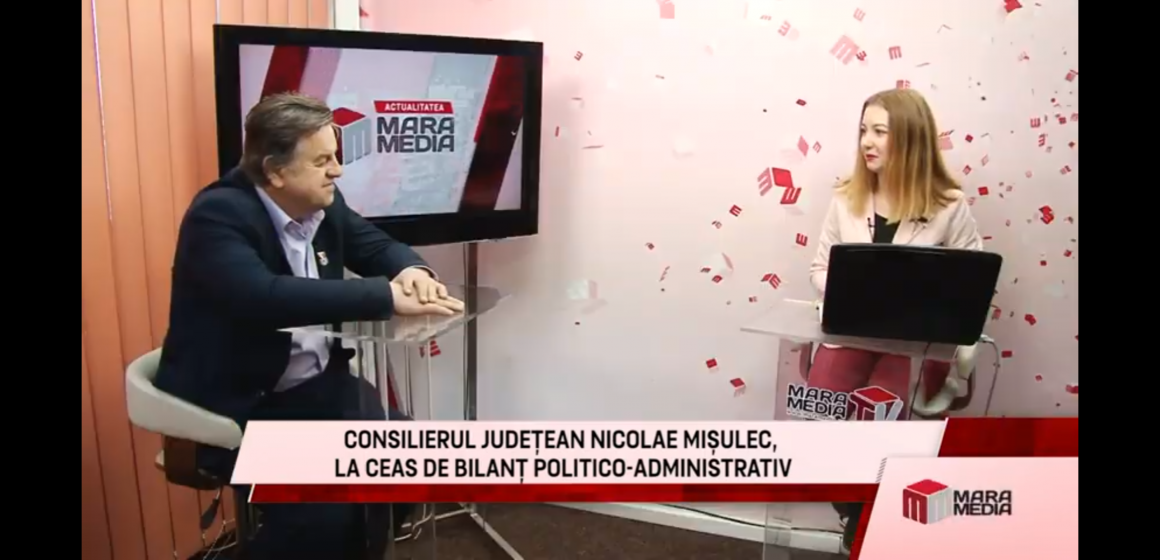 VIDEO – Actualitatea MaraMedia – Consilierul judeţean PNŢCD, Nicolae Mişulec, bilanţ politico-administrativ