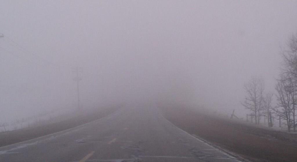 Vizibilitate redusa de ceata, sub 50 de metri, pe Dealul Hera