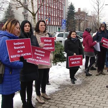 Video|Protest al părinților copiilor cu dizabilități