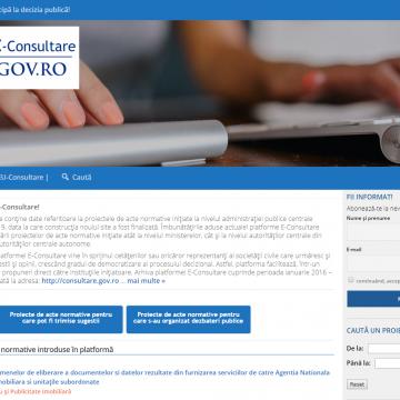VIDEO | Noua platformă E-Consultare a fost finalizată. Ce îmbunătățiri s-au adus