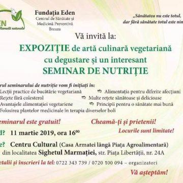 VIDEO | Expoziție de artă culinară vegetariană cu degustare la Sighet