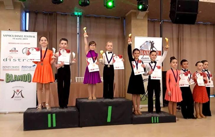 Cinci  medalii și patru finale pentru Prodance 2000 la Napoca Dance Festival