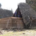 Acoperișurile a două case din lemn de la Muzeului Satului s-au prăbușit