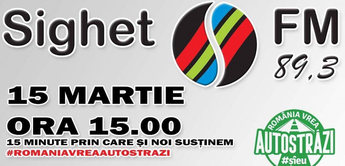 VIDEO | Sighet FM se alătură campaniei #Șî eu vreau autostrăzi în România
