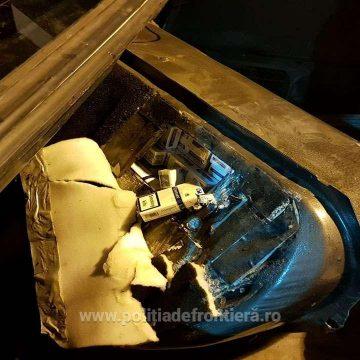 VIDEO | Cu țigări de contrabandă în rezervorul mașinii