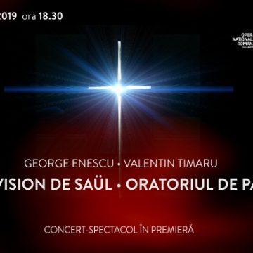 """Invitație la concert – premieră mondială,  """"La vision de Säul"""", de George Enescu"""