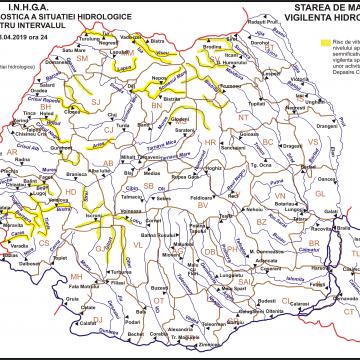 Atenţionare hidrologică: Cod galben de inundaţii pe râurile din judeţul Maramureş