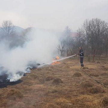 VIDEO | Șapte incendii în 24 de ore în Maramureș, cele mai multe de vegetație uscată