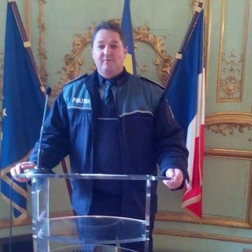 Un polițist maramureșean în misiune în Franța