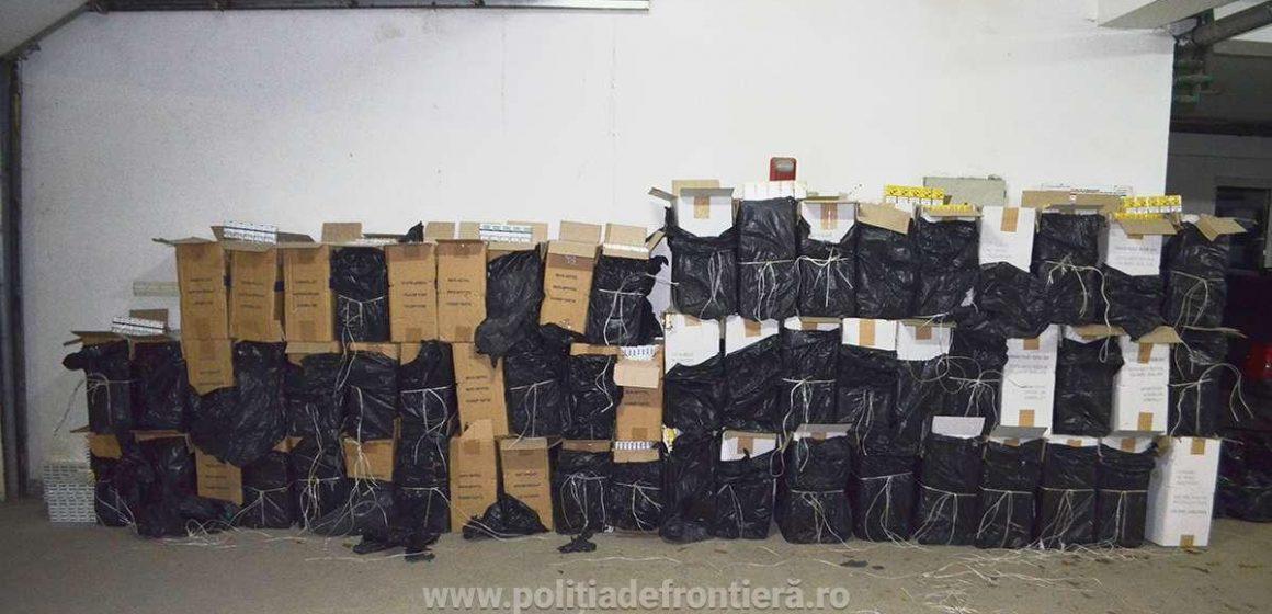 VIDEO|Peste 34.000 de pachete cu țigări de contrabandă confiscate