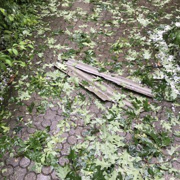 Bilanț după codul roșu de marți: zeci de acoperișuri și mașini avariate și copaci prăbușiți