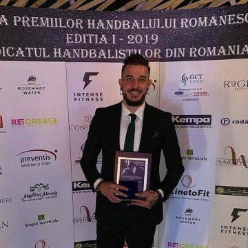 Alexandru Csepreghi, de la Minaur, declarat cel mai bun jucător din țară la Gala premiilor handbalului românesc