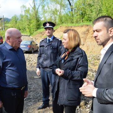 Ministrul Carmen Dan, la Săliștea de Sus pentru evaluarea pagubelor inundațiilor