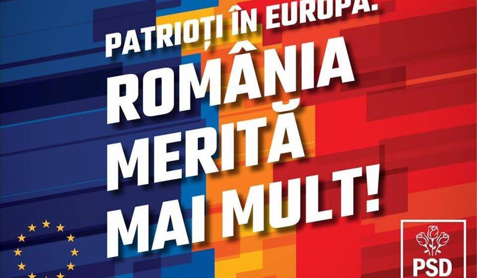 România merită mai mult! Vocea Românei va fi auzită la nivelul Parlamentului European!