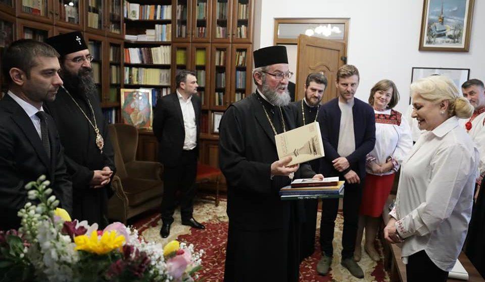 Video|Premierul Dăncilă și doi miniștri, la Episcopie, în Baia Mare