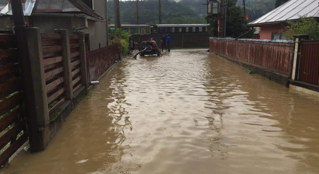 FOTO | Inundații în Vișeu de Sus