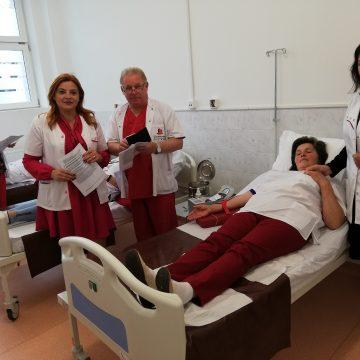 S-a lăsat cu donare de sânge