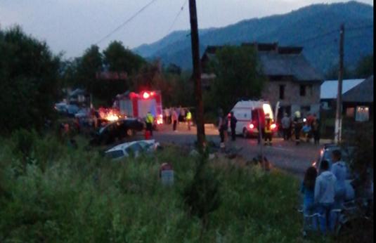 ACTUALIZARE   Doi morți și doi răniți grav într-un accident la intrarea în Petrova ( FOTO)