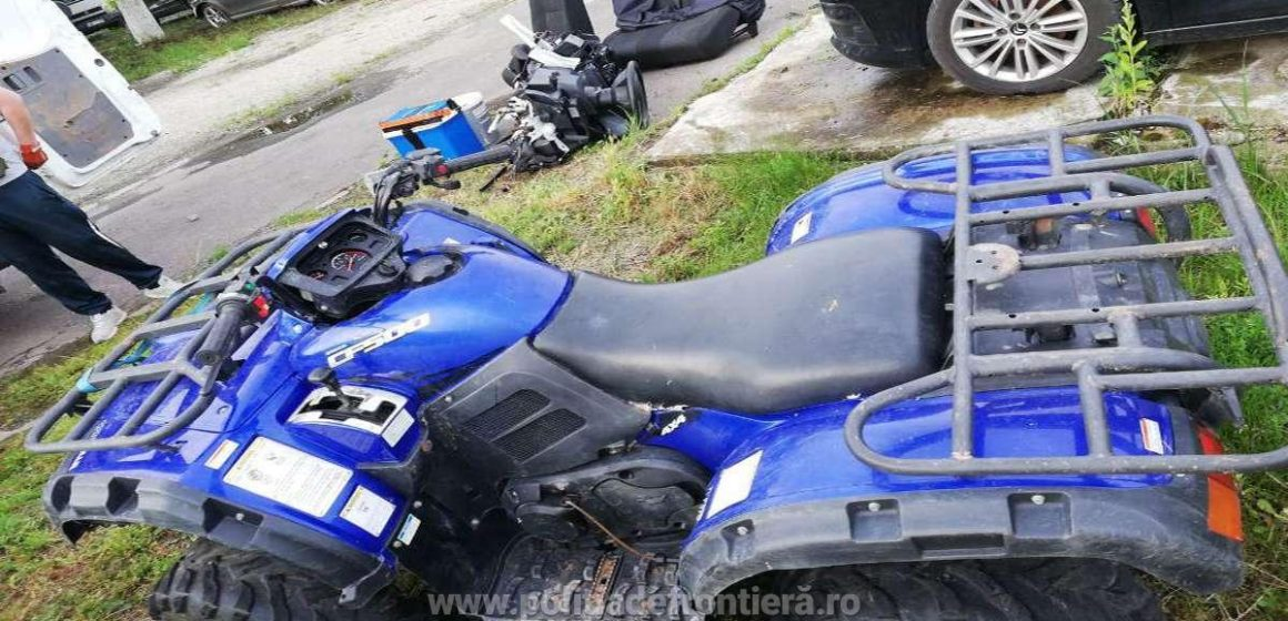 Un ATV și o mașină căutate de autoritățile britanice, găsite de polițiștii maramureșeni și de lucrători ai ITPF Sighet