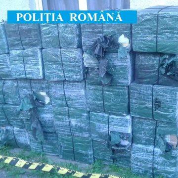 21.500 pachete cu ţigări de contrabandă confiscate de poliţiştii maramureșeni