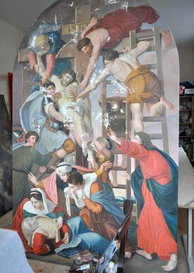 """BISERICA """"SF. CAROL DE BORROMEO"""": Un tablou vechi de aproape 200 de ani a fost restaurat"""