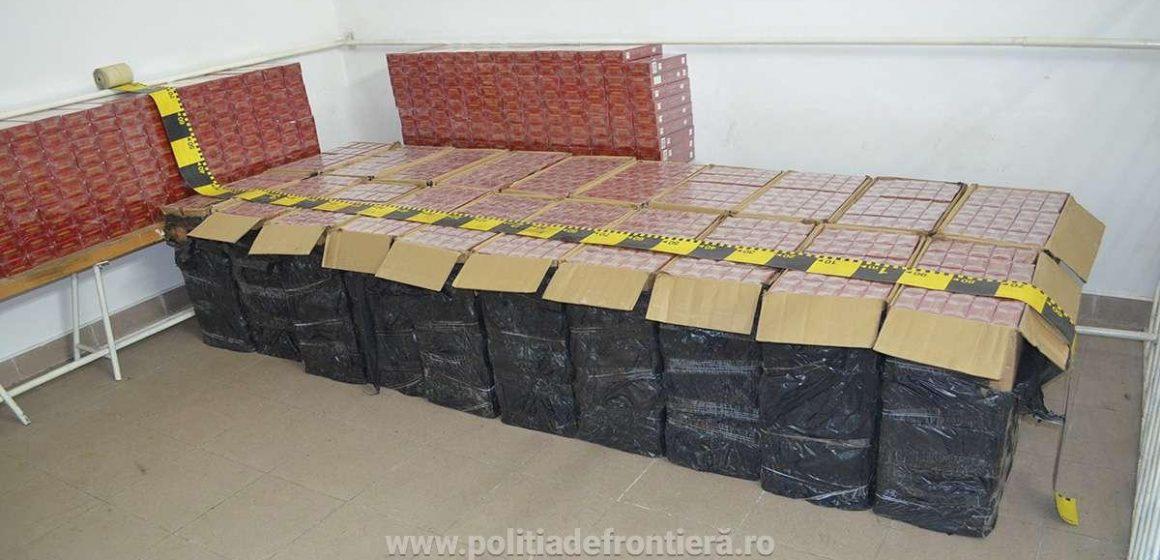 Țigări în valoare de peste 166.000 lei, confiscate la frontiera de nord