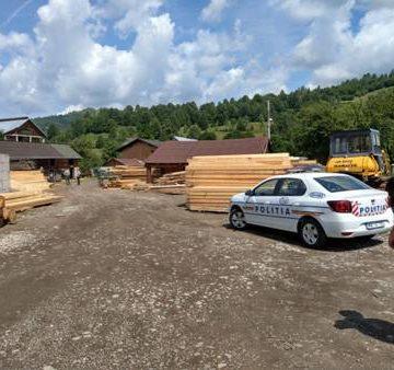 GALERIE FOTO   S-au confiscat lemne în valoare de 586.000 de lei și s-au constatat 22 de infracțiuni