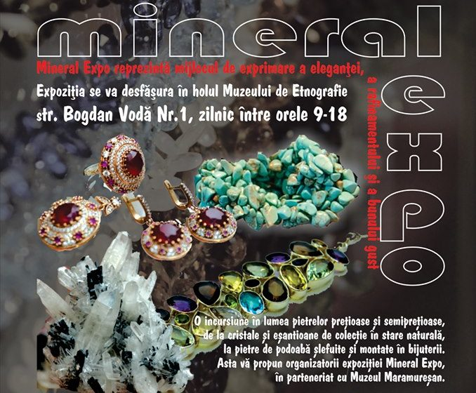 Expoziția cu vânzare Mineral Expo din nou la Sighet
