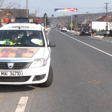 De vineri până duminică poliţiştii maramureșeni au oprit pentru control peste 500 de vehicule