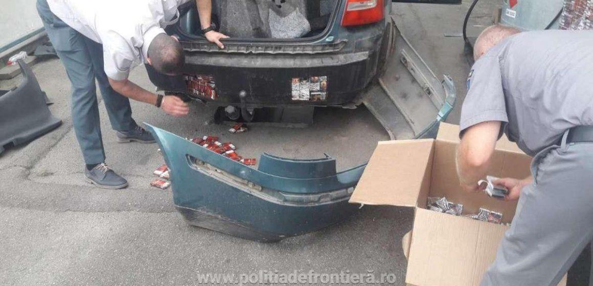 Contrabandist prins greu, după ce s-au tras focuri și de avertisment și spre roțile mașinii sale