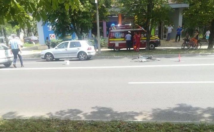 Accidente cu bicicliști răniți