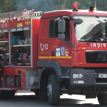 Desfășurare de forțe într-un exercițiu al pompierilor sigheteni
