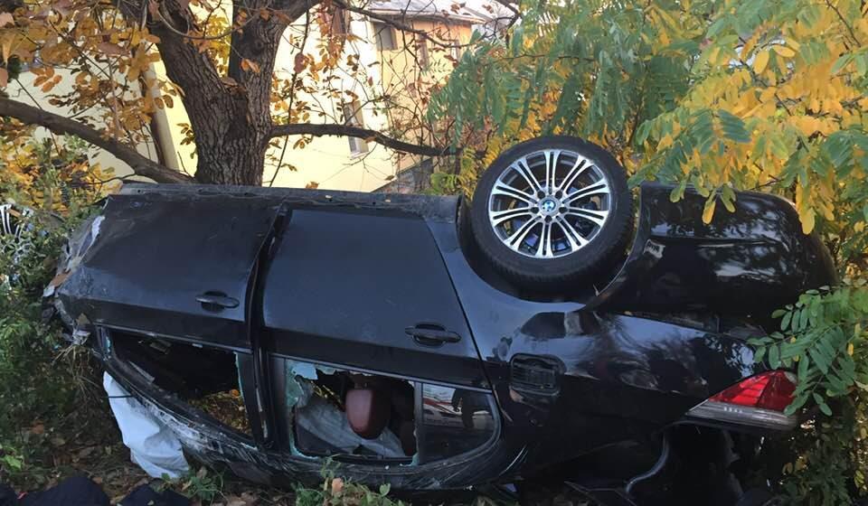 Accident mortal în Sighet – un tânăr s-a răsturnat cu mașina pe plafon
