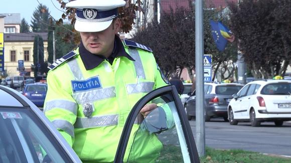 Controale ale polițiștilor rutieri în Sighet