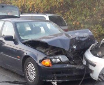 Accident lângă târgul auto