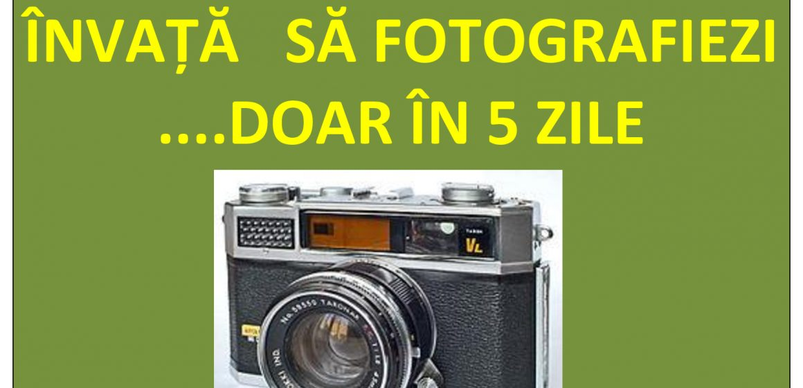 Curs intensiv de tehnică și artă fotografică pentru iubitorii de fotografie, la Sighetu Marmației