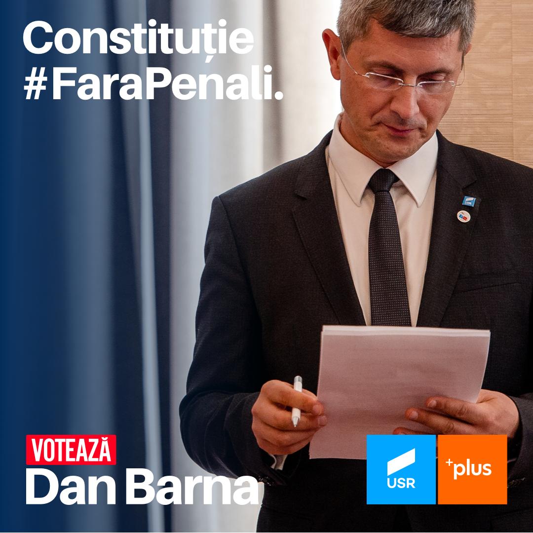 Fără penali în funcții publice, un proiect major al lui Dan Barna pentru România