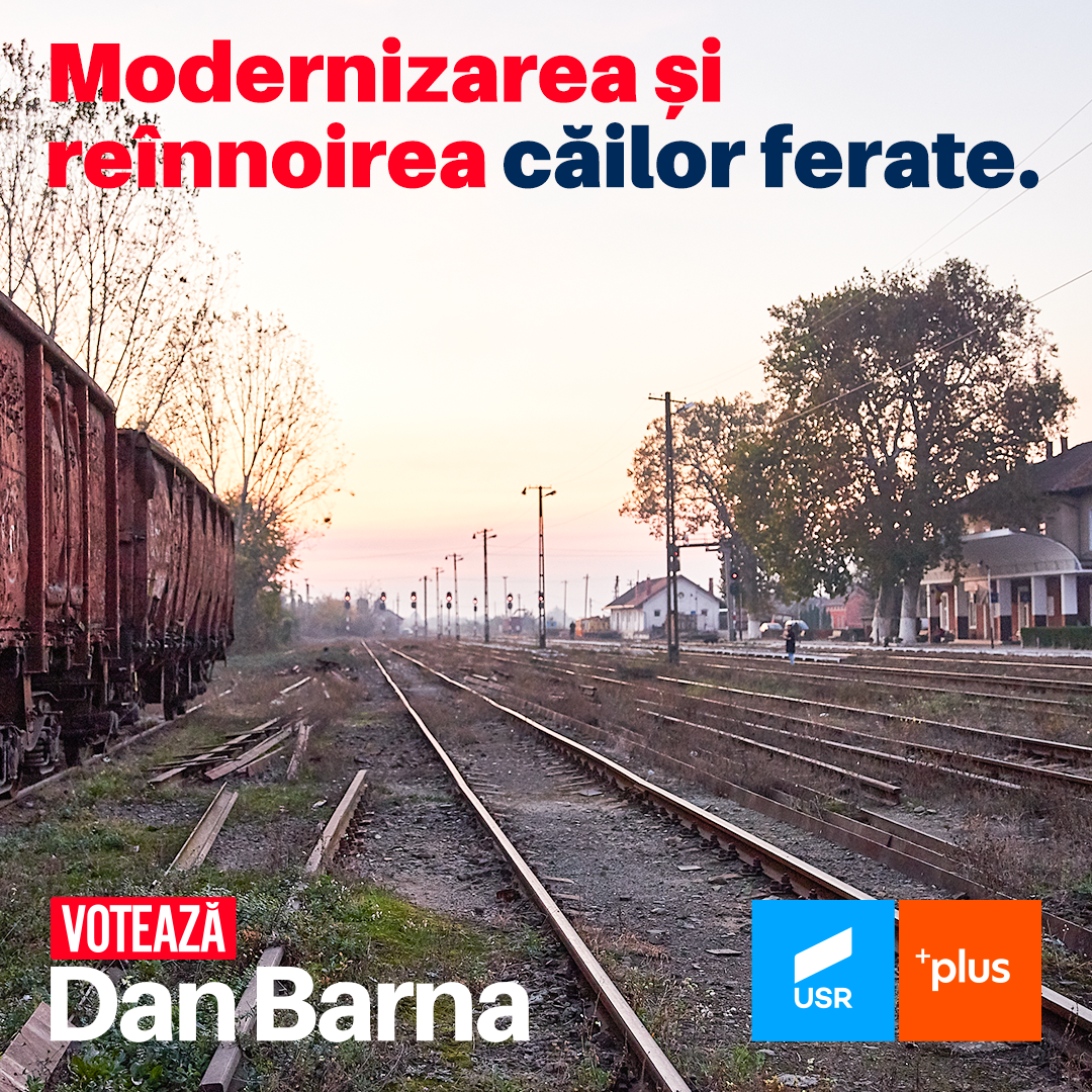 """Dan Barna: """"Vom implementa proiecte de reparație capitală pentru infrastructura de transport feroviar"""""""