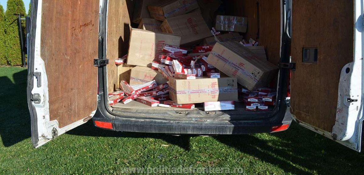 S-au confiscat țigări de contrabandă de peste 385.000 de lei