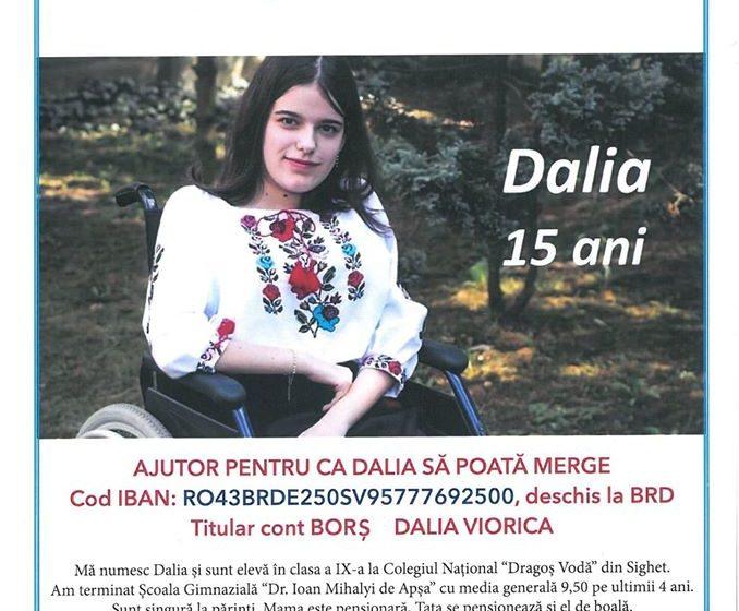 """Dalia are nevoie de noi! Spectacol caritabil pentru susținerea cazului tinerei Dalia, organizat de Uniunea Rutenilor Subcarpatici din România, alături de Taraful Rutenilor și Asociația """"Ecouri Tinere"""""""