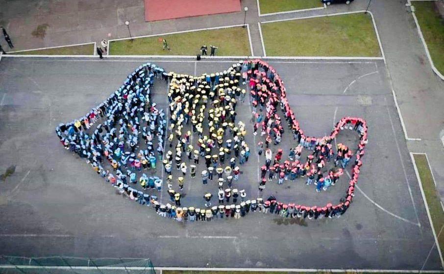 (FOTO) Ziua Națională a României a fost sărbătorită într-un mod inedit de elevii Liceului Borșa