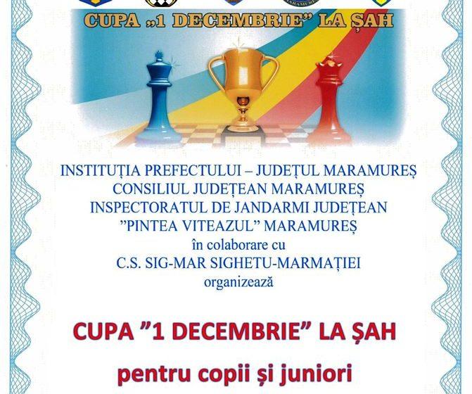 """Cupa """"1 Decembrie"""" la șah pentru copii și juniori"""
