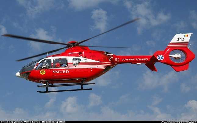 Nou-născut transportat de urgență cu elicopterul SMURD la Baia Mare