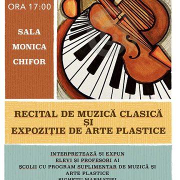 """Recital de muzică clasică și expoziție de arte plastice la Școala Gimnazială de Muzică și Arte PLastice """"George Enescu"""""""