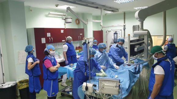 VIDEO   A treia procedură EVAR din acest an la Spitalul Județean