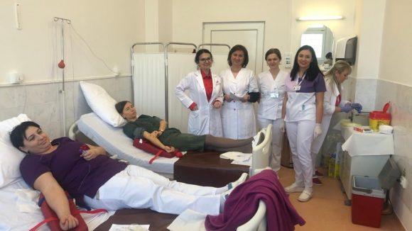 VIDEO | Angajații Spitalului Județean au donat sânge