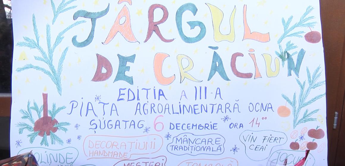 VIDEO | TÂRGUL CARITABIL DE CRĂCIUN  DIN OCNA ȘUGATAG, LA A TREIA EDIȚIE