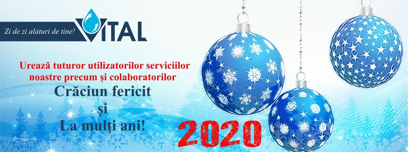 Programul S.C. VITAL S.A. în perioada Sărbătorilor de Iarnă 2019-2020