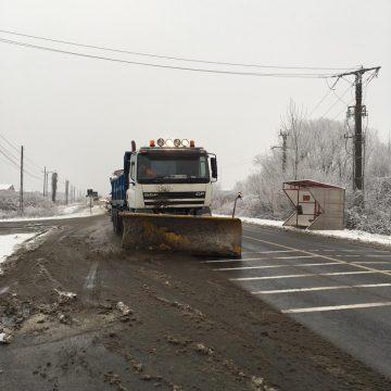 Circulatie rutiera in condtii de iarna pe sectoarele de drumuri publice din judet
